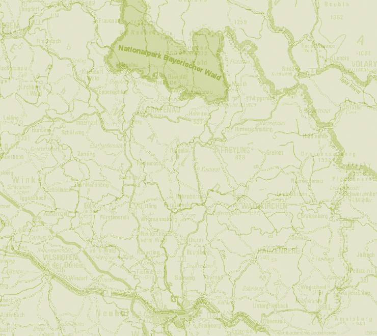 Nationalpark Bayerischer Wald Karte.Gewaesser Und Berge Im Bayerischen Wald Noerdlich Von Der